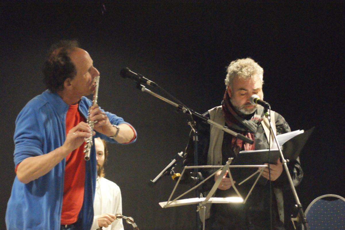 Lucas (fluit) en Elbert (voordracht poëzie)